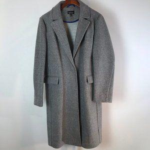 Topshop Grey Midi Length Coat 10